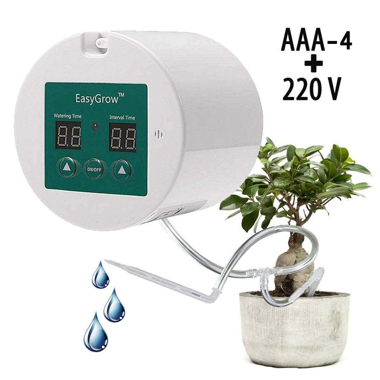 Набор для капельного полива домашних растений с таймером питание от батареек ААА или 220 вольт