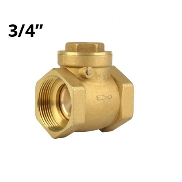 Горизонтальный обратный клапан в/в 3/4, латунь